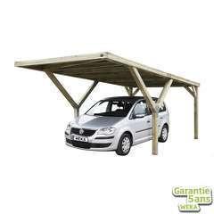 Carport en Y 612 simple en pin sans toit - 306x606x250 cm