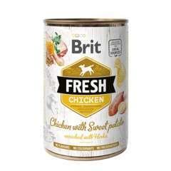 Brit Fresh au poulet frais et patate douce pour chien 400G