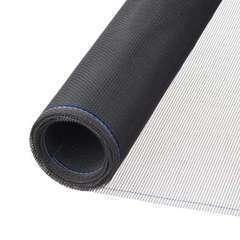 Moustiquaire fibre de verre enduite de PVC gris 1x3m, maille 1,6x1,8mm