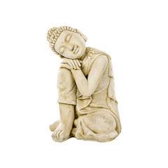 Bouddha penseur ton vieilli, H. 58 cm