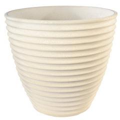 Vase cannele Nova 281 ton blanc