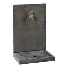 Fontaine ardoisée PM, ton noir, H. 64 cm