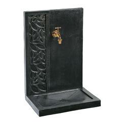 Fontaine feuille 280, ton ardoise, H. 70 cm