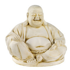 Bouddha chinois XGM ton vieilli, H. 41 cm