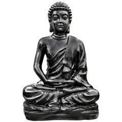 Bouddha Kadampa H.150 cm ton ciré noir