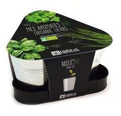 Kit 3 pots aromates Bio basilic persil ciboulette