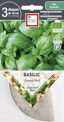 Graines de basilic grand'vert Bio en disque pré-semé en sachet