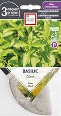 Graines de basilic citron Bio en disque pré-semé en sachet