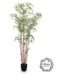 Bambou troncs naturels + 1674 feuilles artificielles 190 cm