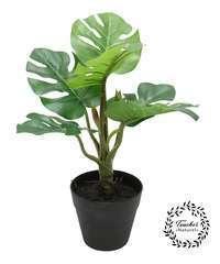 Lot de 2 plantes monsteras artificielles au 'toucher naturel' 25 cm