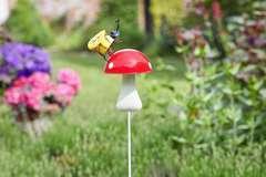 Pique jardin Insecte sur Champignon - H.79,0 cm