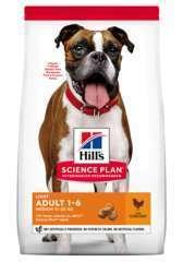 Croquettes pour chien au poulet Hill's Science Plan Adult Light 2,5kg