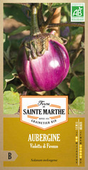 Graines d'aubergine Violetta di Firenze Bio en sachet