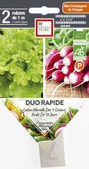 Graines de Duo rapide Bio en ruban pré-semé en sachet