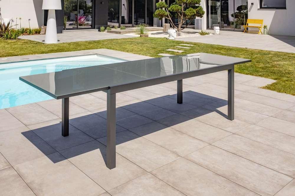 Table Tolede 200 300x100 Cm Avec Rallonge Integree Truffaut