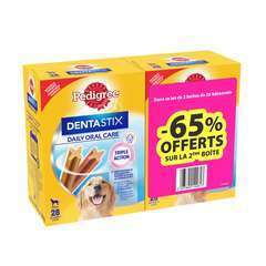 PEDIGREE Dentastix pour grand chien 2x28 sticks 2eme -65%