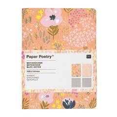 Bloc note A6 Craft rose 40 pages à carreaux 82 g, 2 pièces