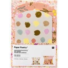 Pochettes cadeaux craft  mix - 2 tailles - 6 pièces