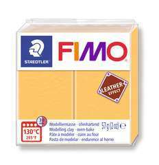 Pâte Fimo Effect cuir 57g jaune safran