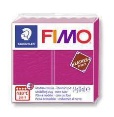 Pâte Fimo Effect cuir 57g violetfruit rouge