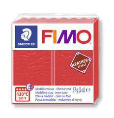 Pâte Fimo Effect cuir 57g rougepasteque