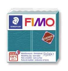 Pâte Fimo Effect cuir 57g turquoiselagon