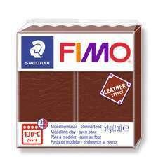 Pâte Fimo Effect cuir 57g marron