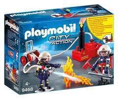 Figurine : Pompiers avec matériel d'incendie