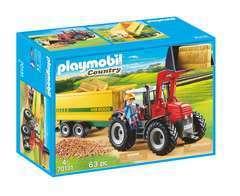 Figurine : Grand tracteur avec remorque
