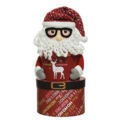 3 boites carton ovales Père Noël superposés