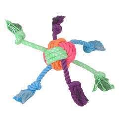Jouet pour chien balle corde patchwork L