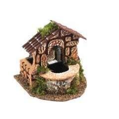 Fontaine électique en bois avec niche 12x12x13 CM
