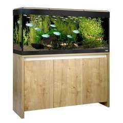 Aquarium Roma 240 L Fluval et meuble : Noyer