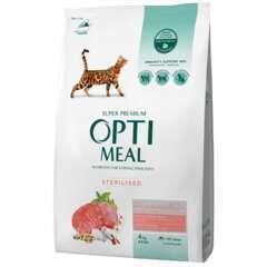 Optimeal Aliment chats stérilisés riche en bœuf et sorgho 4kg