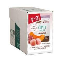 Optimeal aliment chat- agneau, poulet et citrouille 9+3 85g