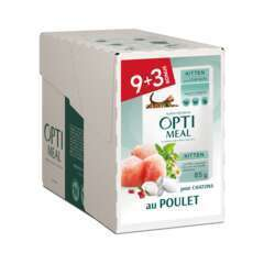 Optimeal Aliment chatons- poulet 9+3 85g
