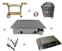 Pack plancha CLASSIC 600 INOX - CHARIOT BOIS