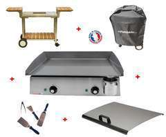 Pack plancha LUX 600 INOX - CHARIOT BOIS