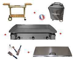 Pack plancha LUX 830 INOX - CHARIOT BOIS