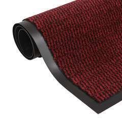 Paillasson rectangulaire 80 x 120 cm Rouge