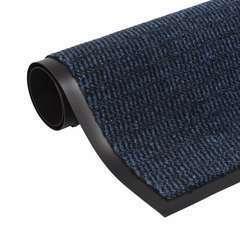 Paillasson rectangulaire 90 x 150 cm Bleu