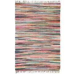 Tapis Chindi Coton tissé à la main 80 x 160 cm Multicolore