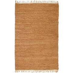 Tapis Chindi Cuir tissé à la main 160 x 230 cm Brun roux