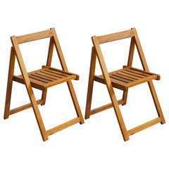 Chaises pliables de jardin 2 pcs Bois d'acacia solide