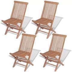 Chaises pliables de jardin 4 pcs Bois de teck solide