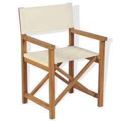 Chaise pliable de metteur en scène Bois de teck solide