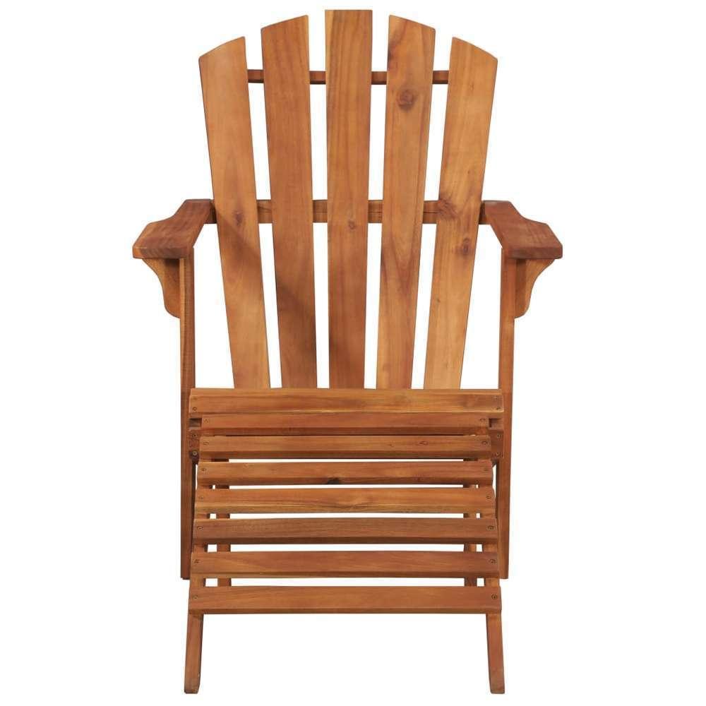 Chaise de jardin Adirondack et repose pied Bois d'acacia massif