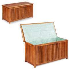 Boîte de rangement de jardin 150x50x58 cm Bois d'acacia solide