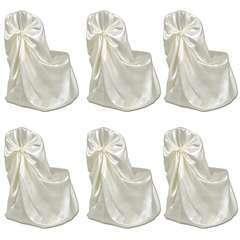 Housse de chaise crème pour le banquet de mariage 6 pièces
