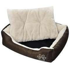 Panier chaud pour chiens avec coussin rembourrée L